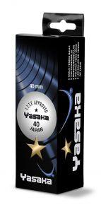 Yasaka 3 balls Super 1 Star 40+ White
