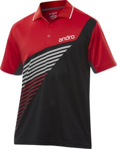 Andro Shirt Harris Cotton Black/Red