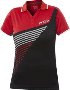 Andro Shirt Harris Women Black/Red