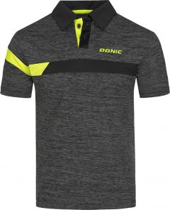Donic Shirt Stripes Anthracite Melange