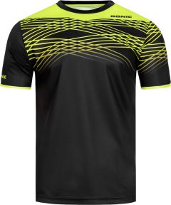 Donic T-Shirt Clix Black/Fluo Yellow