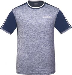 Donic T-Shirt Melange Tee Blue Melange/Navy