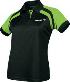 Tibhar Shirt World Lady Black/Lime Green