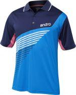 Andro Shirt Harris Cotton Blue/Dark Blue